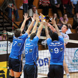 Kaposvar - Innsbruck  volleyball game Royalty Free Stock Photos