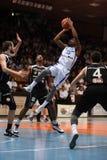 Kaposvar - jogo de basquetebol dos CPE Fotos de Stock Royalty Free