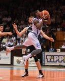 Kaposvar - jogo de basquetebol dos CPE Fotografia de Stock Royalty Free