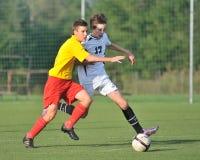 Kaposvar - Kaposvolgye onder 15 voetbalspel Royalty-vrije Stock Foto's