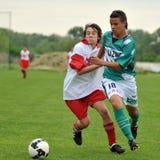 Kaposvar - Kaposvolgye U17 soccer game Stock Photo