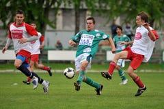 Kaposvar - Kaposvolgye U17 soccer game Royalty Free Stock Photography