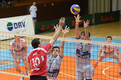 Kaposvar - Kastela volleyball match Stock Image