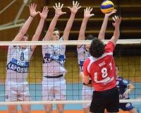Kaposvar - Kastela volleyball match Stock Image