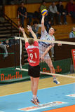Kaposvar - Kastela volleyball match Royalty Free Stock Photography