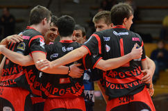 Kaposvar - Kazincbarcika volleyball game Royalty Free Stock Photography