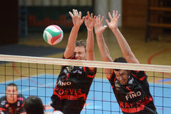 Kaposvar - Kecsekemet volleyball game Stock Photography