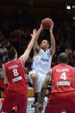 Kaposvar - Kecskemet Basketballspiel lizenzfreies stockfoto