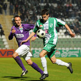 Kaposvar - Kecskemet soccer game Stock Photography