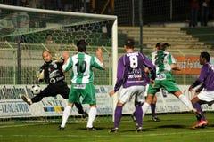 Kaposvar - Kecskemet soccer game Royalty Free Stock Images