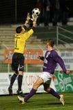 Kaposvar - Kecskemet soccer game Stock Images