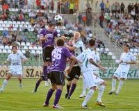 Kaposvar - Kecskemet soccer game Stock Image