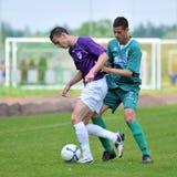 Kaposvar - Kecskemet U19 soccer game Royalty Free Stock Image
