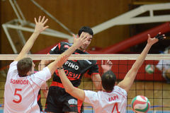 Kaposvar - Kecskemet volleybal game Royalty Free Stock Photo