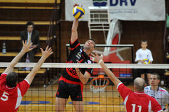 Kaposvar - Kecskemet volleyball game Royalty Free Stock Images