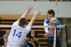 Kaposvar - Kecskemet volleyball game Stock Image