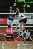 Kaposvar - Kecskemet volleyballspel Stock Afbeelding