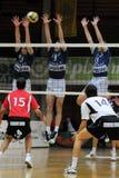 Kaposvar - Kecskemet Volleyballspiel Lizenzfreies Stockfoto