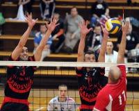 Kaposvar - Kecskemet Volleyballspiel Stockfoto