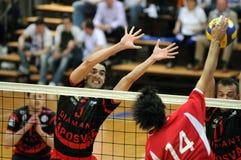 Kaposvar - Kecskemet Volleyballspiel Lizenzfreie Stockfotografie