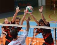 Kaposvar - Kecskemet Volleyballspiel Stockfotos