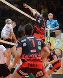 Kaposvar - Kecskemet Volleyballspiel Stockbilder