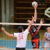 Kaposvar - Kecskemet Volleyballspiel Lizenzfreie Stockfotos