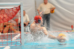 Kaposvar-Kecskemet waterpolo game Royalty Free Stock Photography
