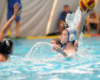 Kaposvar-Kecskemet waterpolo game Stock Images