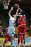 Kaposvar - Kormend basketball game Stock Image