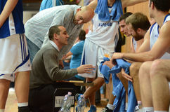 Kaposvar - Kormend basketbalspel royalty-vrije stock afbeelding