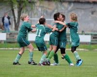 Kaposvar - Lenti U13 soccer game Royalty Free Stock Image