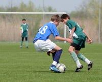 Kaposvar - Lenti U15 soccer game Stock Image