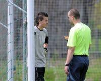 Kaposvar - Lenti U15 soccer game Stock Photography