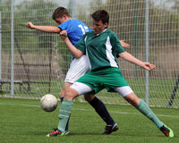 Kaposvar - Lenti U15 soccer game Stock Photo