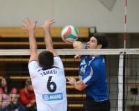 Kaposvar - MAFC volleyball game Stock Photos