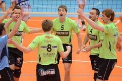 Kaposvar - Menen volleyball game Royalty Free Stock Image