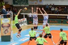 Kaposvar - Menen Volleyballspiel Stockfotografie
