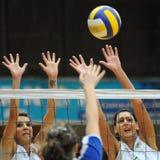 Kaposvar - Miskolc volleyball game stock images