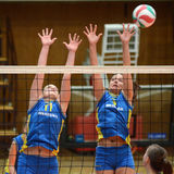 Kaposvar - Miskolc volleyball game Stock Photography