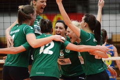 Kaposvar - Miskolc volleyball game Royalty Free Stock Image