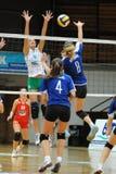 Kaposvar - Miskolc volleyballspel Stock Foto