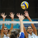 Kaposvar - Miskolc Volleyballspiel Stockbilder