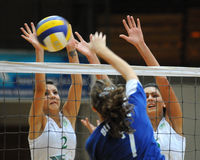 Kaposvar - Miskolc Volleyballspiel Lizenzfreies Stockfoto