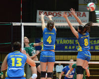 Kaposvar - Miskolc Volleyballspiel Stockbild