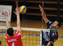 Kaposvar - Mladost Zagreb volleyball game Stock Photography