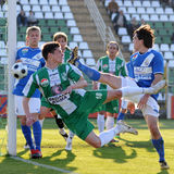 Kaposvar - MTK soccer game Stock Images