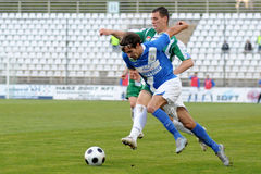 Kaposvar - MTK soccer game Royalty Free Stock Image