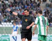 Kaposvar - MTK soccer game Royalty Free Stock Photo