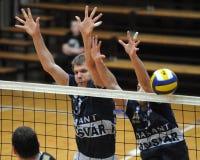 Kaposvar - Murska Sobota Volleyballspiel Stockfotografie